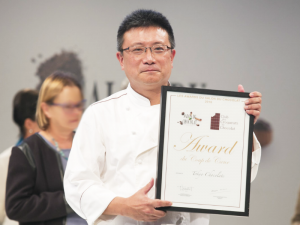 Mary Chocolate chocolatier. he received top prize for the second year in a row from French chocolate rating authority C.C.C. (Le club des croqueurs de chocolate) for his work with prestige brand Tokyo Chocolate.
