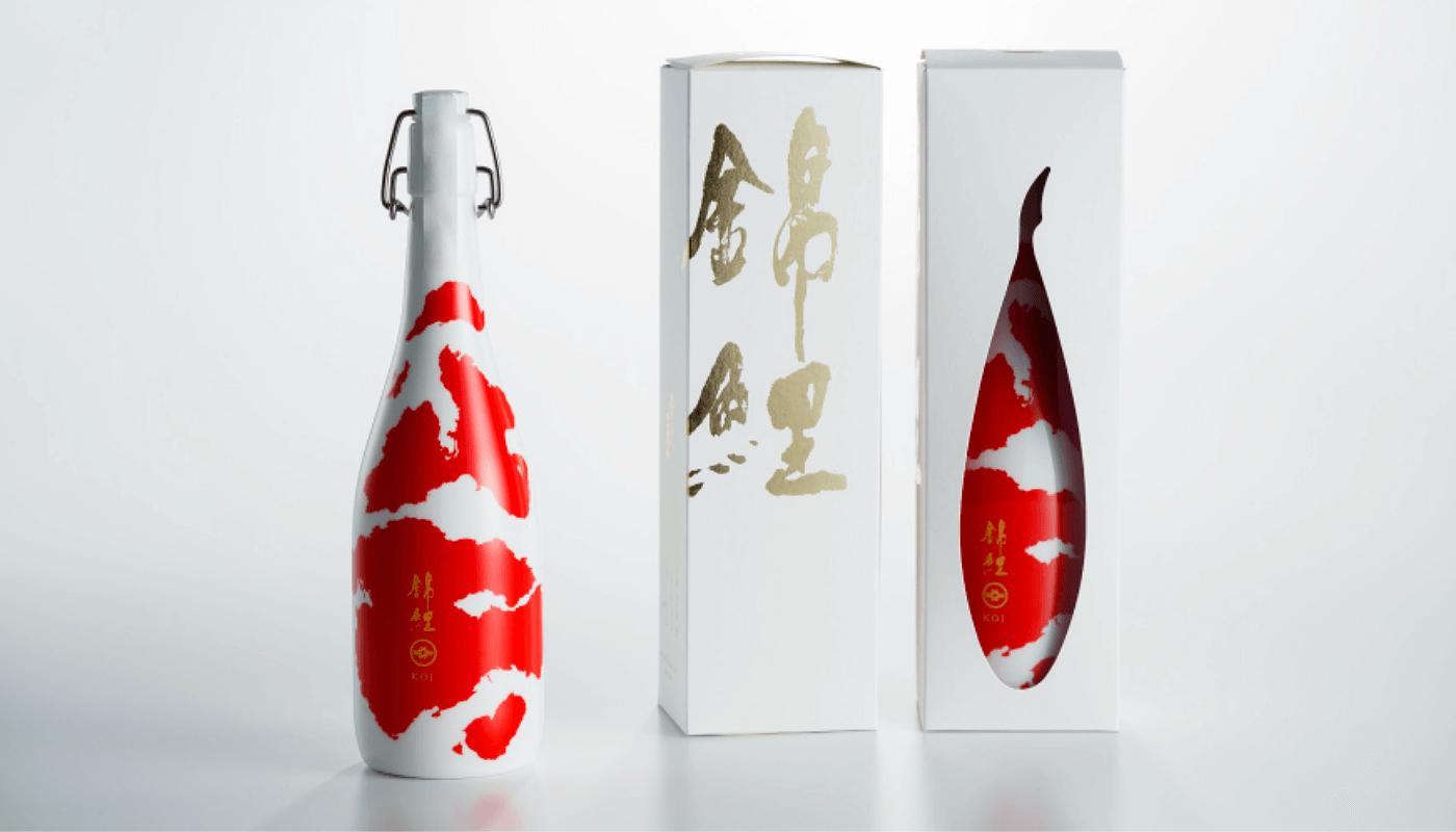 Bottle Design Featuring Multicolored Carp Receives 2018 GERMAN DESIGN AWARD