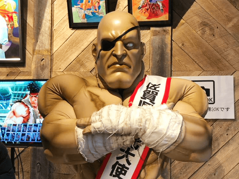 Sagat, the Muay Thai boxing final boss from Street Fighter