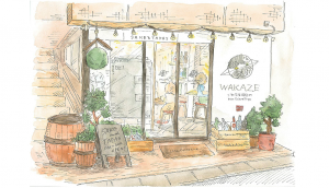 disign of WAKAZE Opening Sake Brewery at Sangenchaya