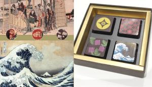 Hokusai chocolate made by Chocolatier Kawaji