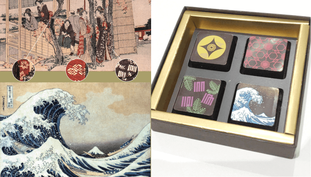 Hokusai chocolate made by Chocolatier Kawaji