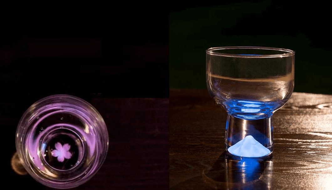 """Mt. Fuji and Cherry Blossoms Shine in the New """"Moonlight Glass"""""""