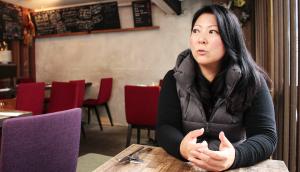restaurateur Kana Mamiya, talking with passion