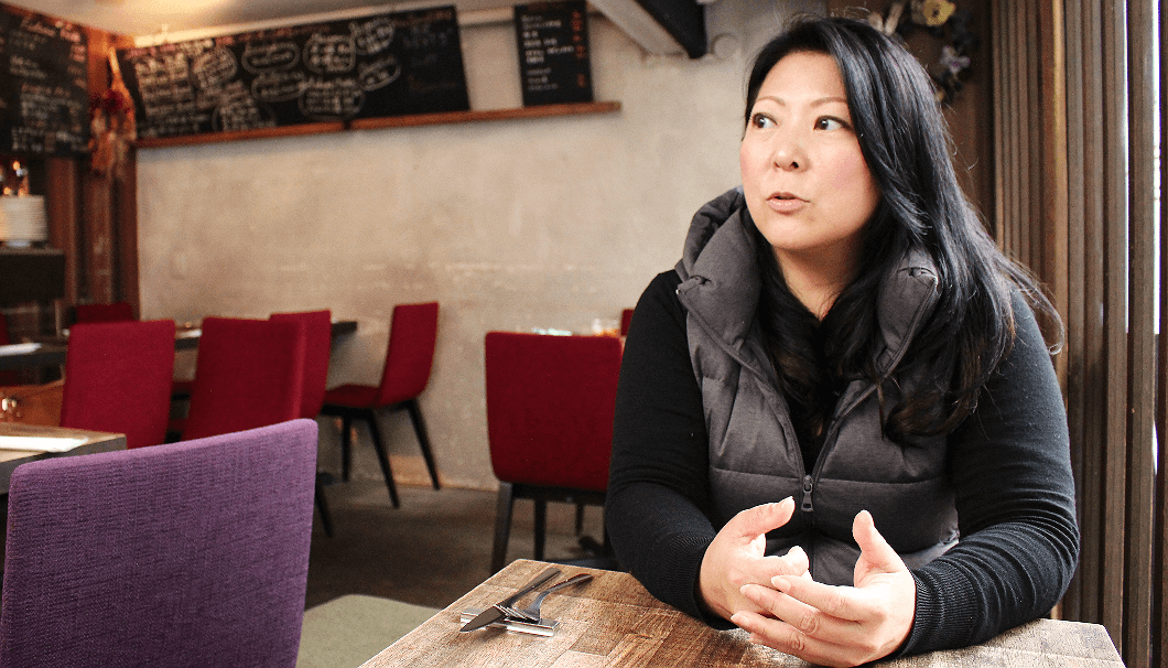 restaurateur Kana Mamiya, talking with passion