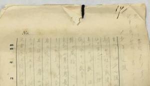 a hand-written journal of Tsunekichi Okura