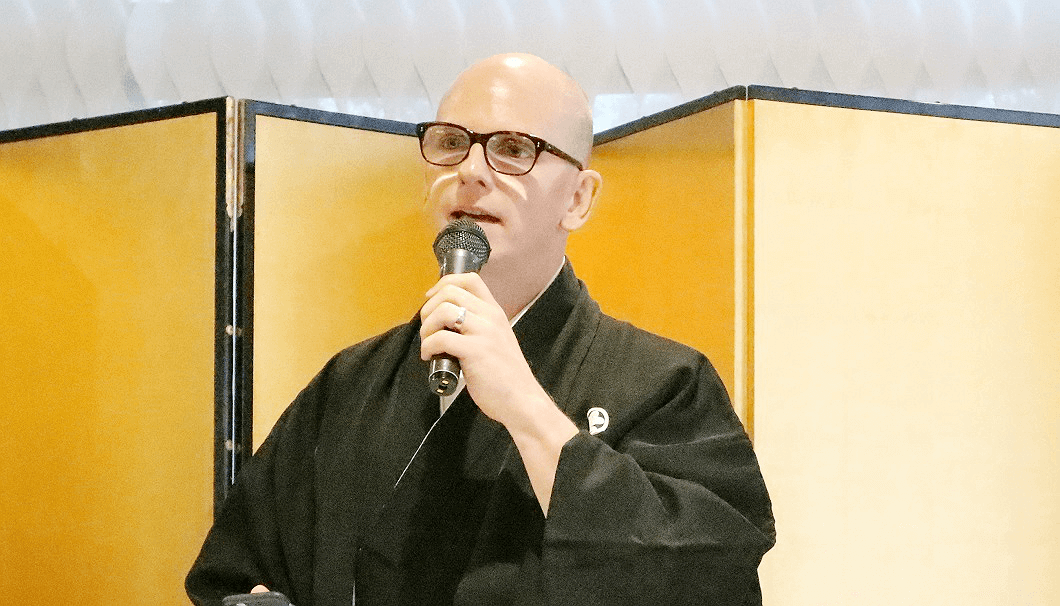 Michael Tremblay at the Sake Samurai 2018 designation ceremony