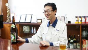 Caption: Akira Matsumoto, the man responsible for Tokusen brewing