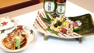 Caption: Tokusen served at the historic Kyoto restaurant, Kyorori Manshige