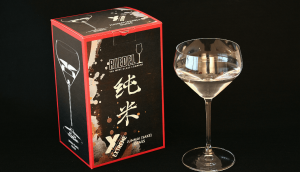 "Riedel's ""junmai"" sake specific wine glass"