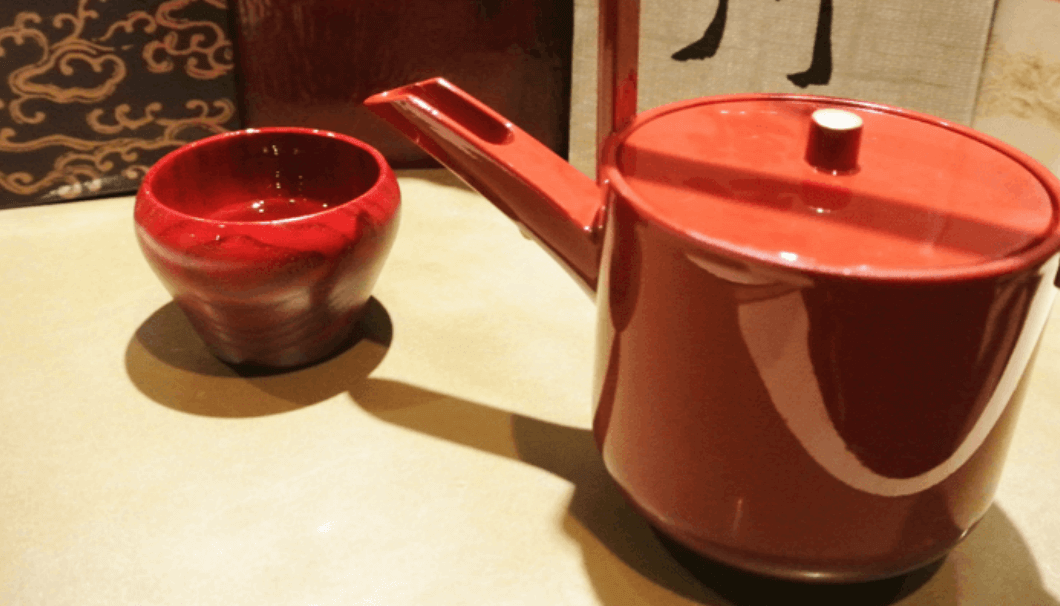 Toso is traditionally served in red lacquer
