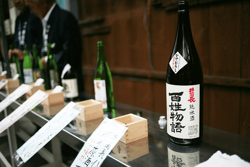 sake tasting at brewery tour