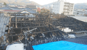 The photo of Sanyouhaibrewery after got a fire