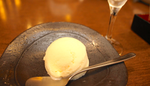 ice cream made from sake lees