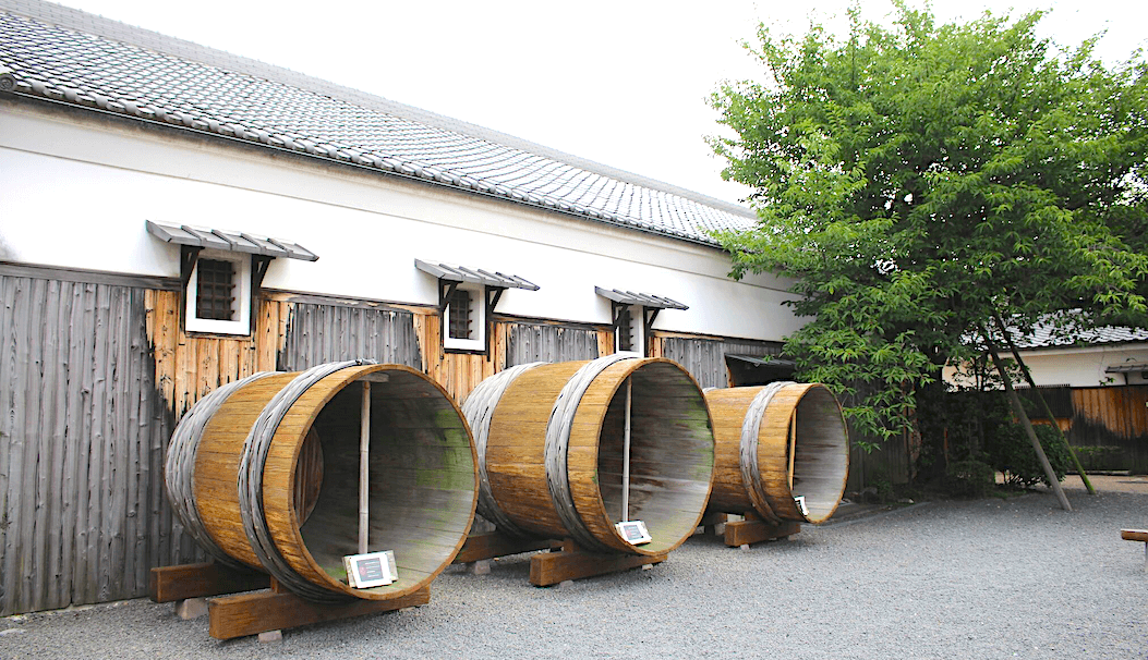 giant wooden fermentation vats