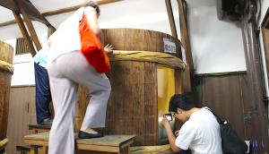 A moromi mash fermentation