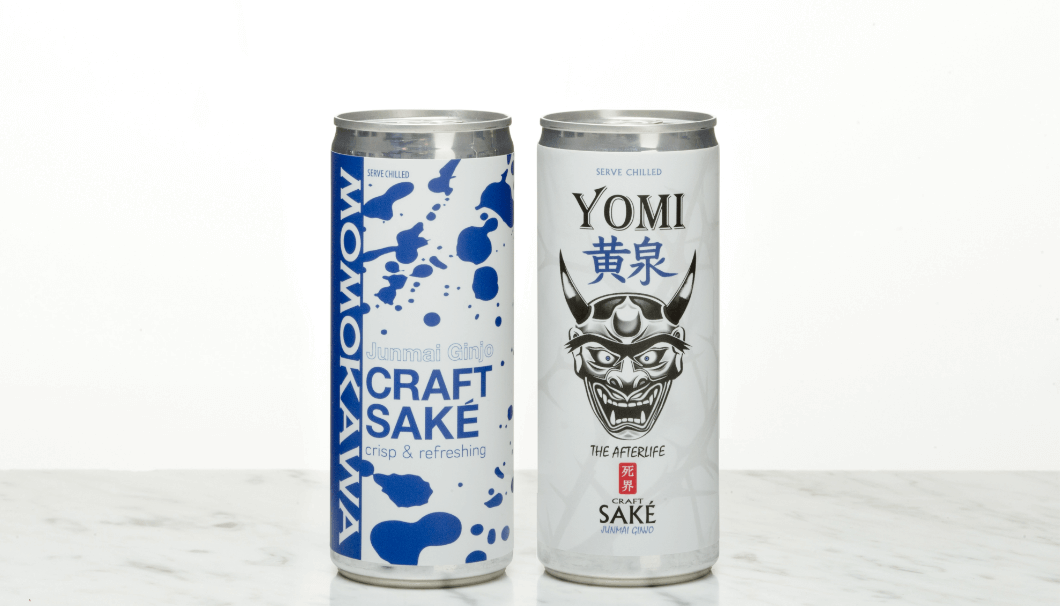 Two New Canned Sake Brands from America's SakéOne 「Junmai Ginjo Momokawa and Yomi」