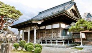 Buddhist temple. Niigata. Shibata. Scenery.