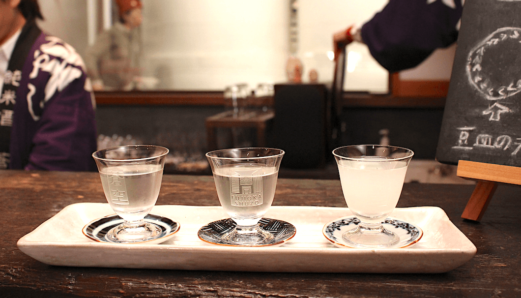 The Sookuu tasting flight