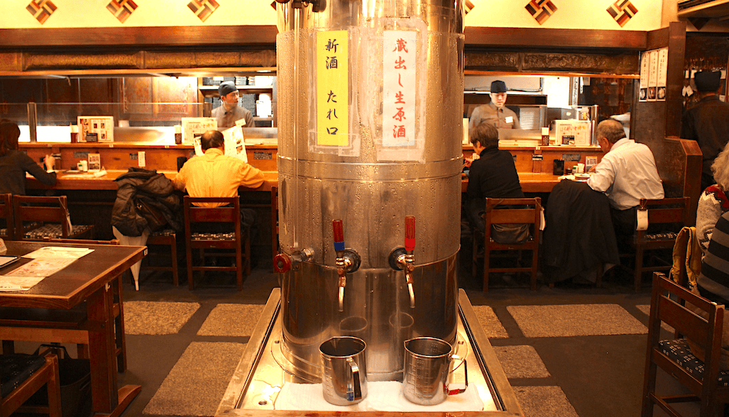 The kuradashi nama genshu tank serves up a heaping helping of fresh sake