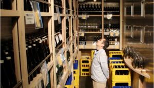 A storehouse where valuable matured sake sleeps, not sold to the general public