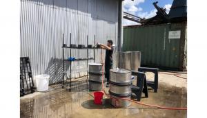 Washing brewing tools