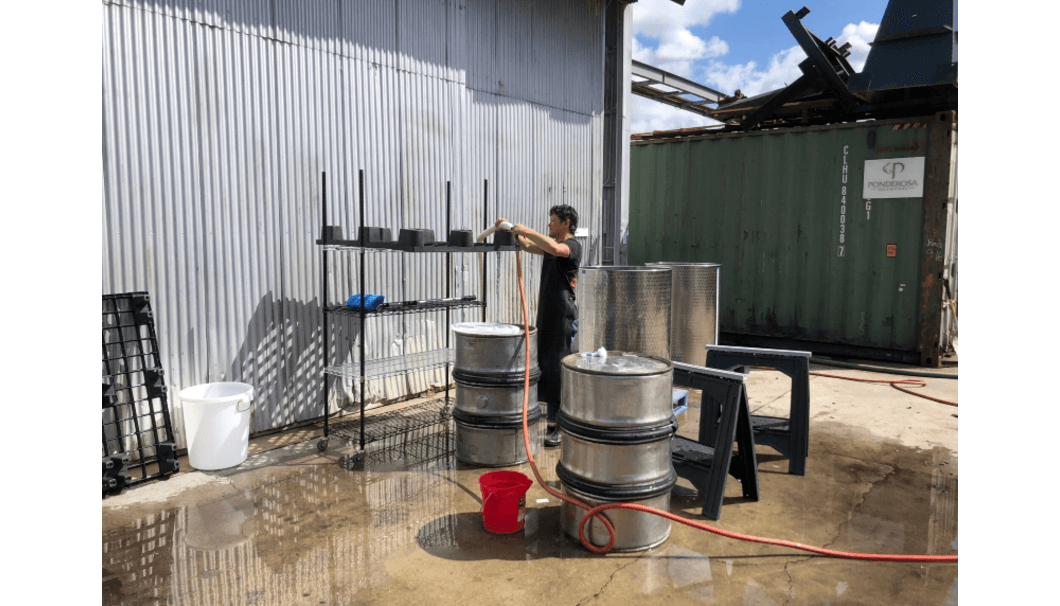 Washing brewing tools