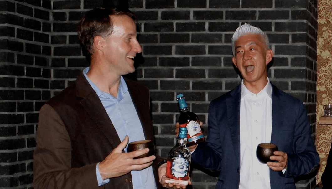 Soenen shakes a merry toast with Masuda